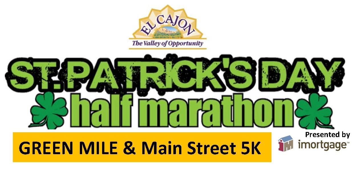 St. Patrick's Day Half Marathon, 5k, The Green Mile