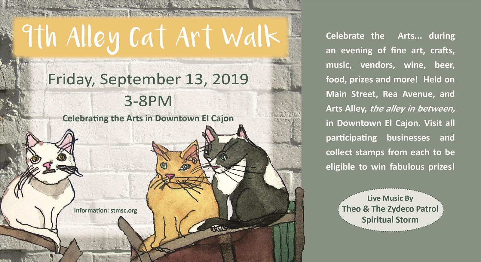 Alley Cat Art Walk | St  Madeleine Sophie's Center | Serving
